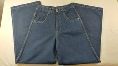 Solo Semore Jeans 100% Cotton Size 28 Made in USA Baggy New With Tags Blue #SoloSemore #NA
