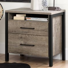 Features:  -Munich collection.  -Accessories not included.  -Framed with matte black moldings.  -Non-toxic laminated particleboard.  -Open space ideal for bedside reading material.  -Open space in the