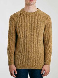 LTD Core Mustard Lambswool Crew Neck Sweater
