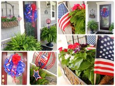 Happy (almost) 4th of July! Having a big summer cookout or just want to add something festive to your front door? I just got done decorating my front porch and wanted to share! These wreaths are not that difficult to make -- and I've included instructions below for how to make your own. I learned…