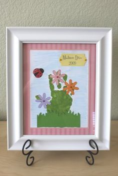 Handprint Flowers in a Field... A nice gift for mom or grandma.