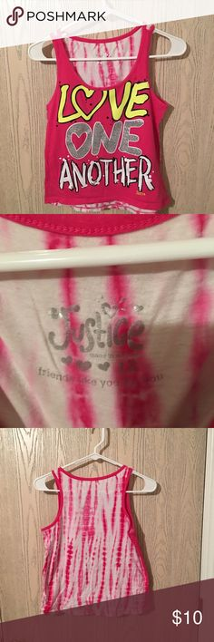 Justice tank top Justice size 12 tank top . Good condition . Super cute Justice Shirts & Tops Tank Tops