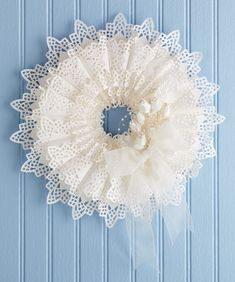 208 Best Doily Crafts Images On Pinterest Babyshower Ideas Party