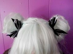 Pastel Goth Bat Wing Bow Clips PairBlack by NerdyLittleSecrets