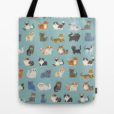 Cats! Tote Bag by DoggieDrawings - $22.00