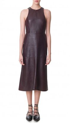 Leather Fluted Dress