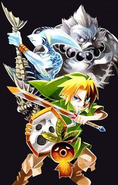The Legend of Zelda: Majora's Mask via Pixiv