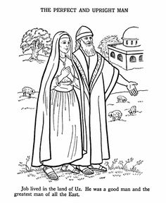 Kids Coloring Page From Whats In The Bible Featuring Job