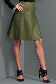 Leather Flounce Skirt: Unique & Bold Women's Clothing from #metrostyle $49.99 - $59.99