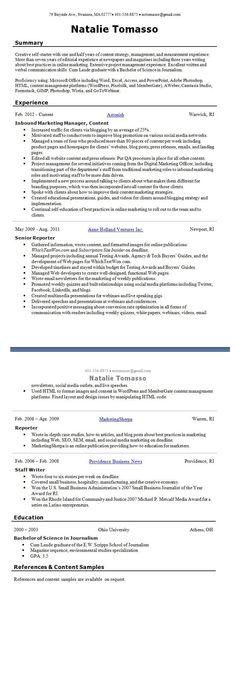 Creative Director, Lioness Communications @Sandraloves Sandra C - traditional resume