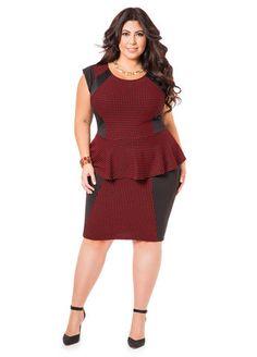39950950eeb1 Checkered Peplum Dress Checkered Peplum Dress