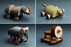 Toys (1930) by Czech designer Ladislav Sutnar (1897-1976). turned and painted wood