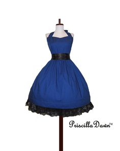 Made to order Classy Blue Swing Dress