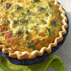 Broccoli and Cheddar Quiche Recipe - 5 Point Value - LaaLoosh  I am guessing 6 points plus