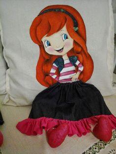 pintura de amofadas meninas ou bonecas - Pesquisa Google