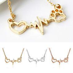 Frau Kette Halskette Elektrokardiogramm Anhänger Herz Impressum Muster Geschenk Cheap Necklaces, Bracelets, Silver, Gold, Ebay, Jewelry, Gifts For Women, Neck Chain, Heart