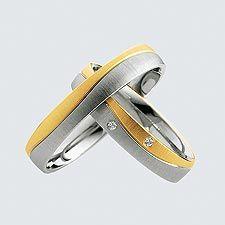 Verighete cu briliante din aur alb cu aur galben.  Cu interiorul bombat, pentru un confort maxim la purtare Wedding Rings, Aur, Modern, Trendy Tree, Wedding Ring, Wedding Bands, Men Wedding Rings, Wedding Band Ring