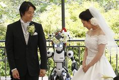 Tie the 'bot: Robot registrar performs first ever wedding ceremony #DailyMail
