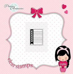 List Stamps To Do Stamps Clear Stamps Planner von EmelysPlannerShop