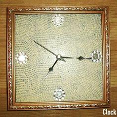 TITLE : Blue Beige Mirror. MEDIUM : Acrylic and Texture on Teak- Wood. FEATURE : A self - designed square sponge used to form the waved texture. #MeghnaCreations #creations #clock #blue #beige #mirror #mirrorart #waved #texture #smooth #using #selfdesigned #squaresponge #onteakwood #bronzeframe #leafydesign #black #design #needles #gifting #mumbai #pintrest