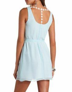 daisy chain chiffon shift dress