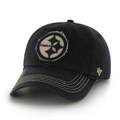 3c8f3634fd58d Pittsburgh Steelers Badger Black 47 Brand Stretch Fit Hat