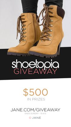 Get ready to fall head over heels for this week's giveaway. We teamed up with Shoetopia to put a smile on 5 lovely ladies faces. Head to the Jane giveaway page to win one of 5 PayPal CASH prizes!