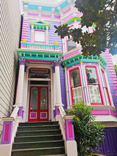 Gorgeous colorful pink purple San Francisco