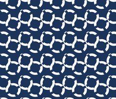 Life Preserver fabric by fleamarkettrixie on Spoonflower - custom fabric