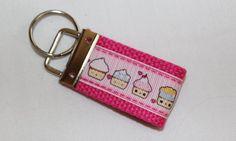 Super Kawaii Cupcake Mini Keychain Key Fob by RedShirtCreations