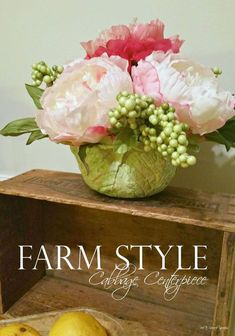 cabbage centerpiece, container gardening, crafts, flowers, how to