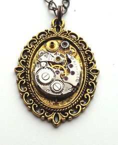 The Brass Medallion from Steampunk Collection by alisafavourites, $15.00