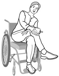 Cross-legged lean-over pressure relief pose. >>> See it. Believe it. Do it. Watch thousands of SCI videos at SPINALpedia.com