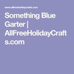 Something Blue Garter | AllFreeHolidayCrafts.com