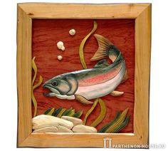 Панно – интарсия. Рыба.