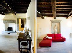OPERASTUDIO - Project - Interior renovation - #Tuscany #villa #living room #red