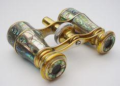 VERY FINE  Antique French Haliotis Opera Glasses.