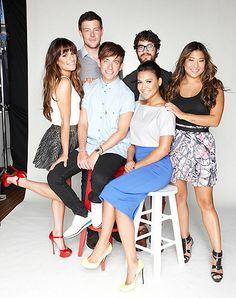 Glee for TV Guide Magazine / Lea Michele, Cory Monteith, Kevin McHale, Darren Criss, Naya Rivera, Jenna Ushkowitz