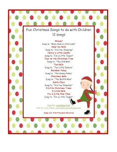 fun christmas songs to do children - Children Christmas Songs