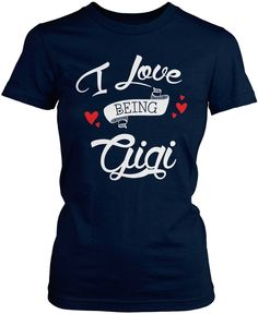 I love being Gigi The perfect tshirt for any proud Gigi! Order yours today! Premium, Women's Fit & Long Sleeve T-Shirts Made from 100% pre-shrunk cotton jersey. Heathered colors contain part polyester