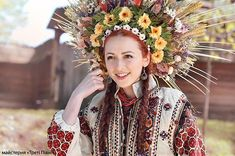 show the richness of their tradition from different Ukrainian regions. Now this photo shoot was about Making hats (hand-made) which are called wax diadems (crowns).