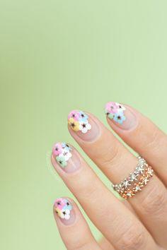 Negative Space Floral Nail Art with DIY tutorial #olivenailart