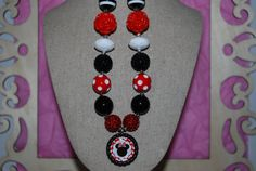 Chunky Bead & Bottle Cap Necklace  Wild about by beadazzledkiddos, $17.00