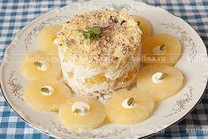 Салат с ананасом и курицей - рецепт с фото