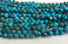 Turquoise Faceted Onion Beads Chinese Turquoise by gemsforjewels