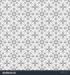 Sacred Geometry Seamless Pattern. Black And White Abstract Texture. Monochrome Graphic Print. Vector. - 394753390 : Shutterstock