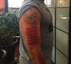"""The bottom tattoo under the shark is the mark of the Arashikage Ninja Clan from the old G.I.JOE cartoon and comic book series from the 1980s.      The characters """"Snake Eyes"""" and """"Storm Shadow"""" had this tattoo on their right forearms. #arashikage #stormshadow #snakeeyes"""