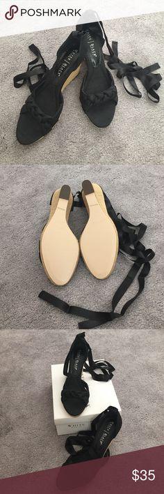 Selling this WHBM Black Wedges on Poshmark! My username is: melissat28. #shopmycloset #poshmark #fashion #shopping #style #forsale #White House Black Market #Shoes