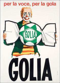 Golia Vintage Italian Posters, Pub Vintage, Vintage Advertising Posters, Vintage Labels, Vintage Advertisements, Retro Poster, Poster Ads, Retro Ads, Poster Vintage