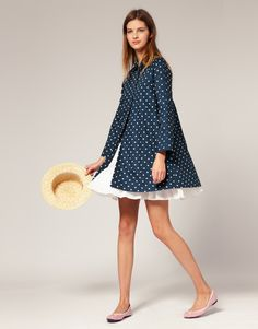 Love the polka dots, love the bounce in a swing coat, but swing coats don't work for me. Must stick to admiring on others. :)